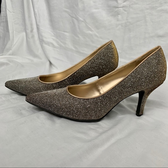 Silver And Gold Sparkly Heels   Poshmark